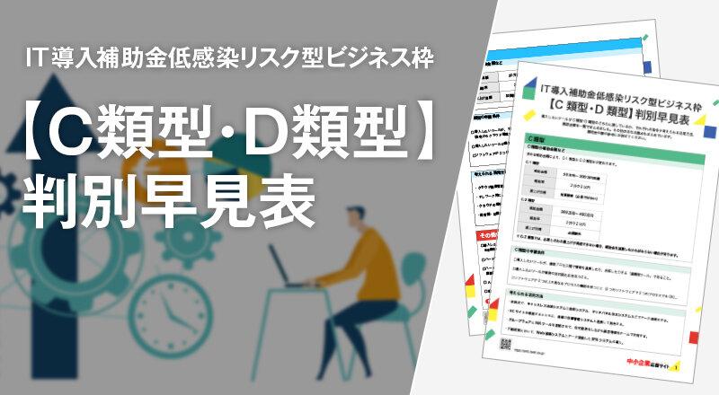 IT導入補助金リスク型ビジネス枠【C類型・D類型】判別早見表